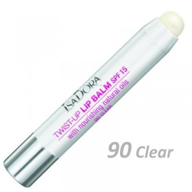 ISADORA TWIST-UP LIP BALM 90 CLEAR - SPF15 3.5g